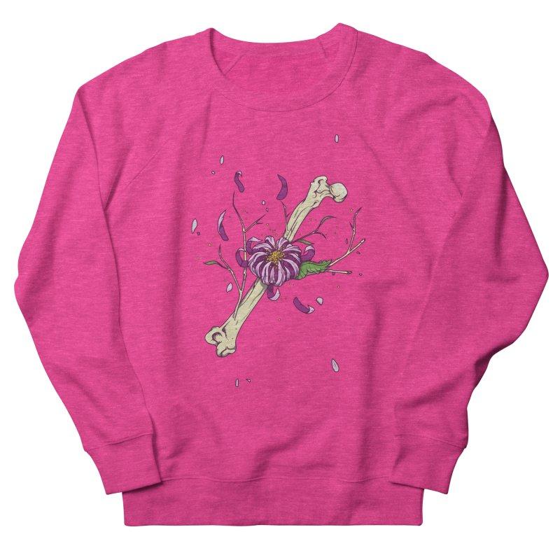Flower bone Women's French Terry Sweatshirt by juliusllopis's Artist Shop