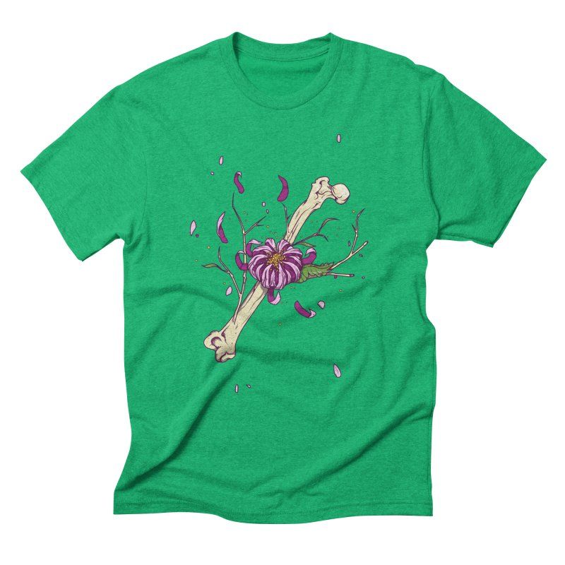 Flower bone Men's Triblend T-Shirt by juliusllopis's Artist Shop