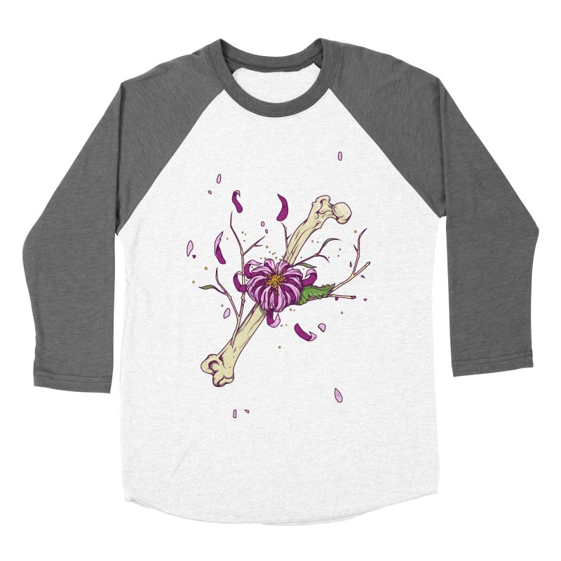Flower bone Men's Baseball Triblend Longsleeve T-Shirt by juliusllopis's Artist Shop