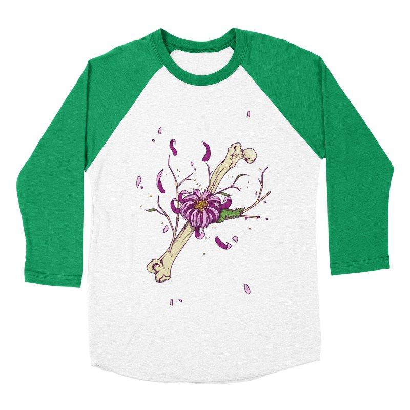 Flower bone Men's Baseball Triblend T-Shirt by juliusllopis's Artist Shop