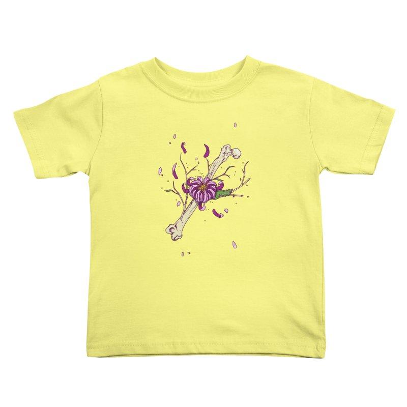 Flower bone Kids Toddler T-Shirt by juliusllopis's Artist Shop