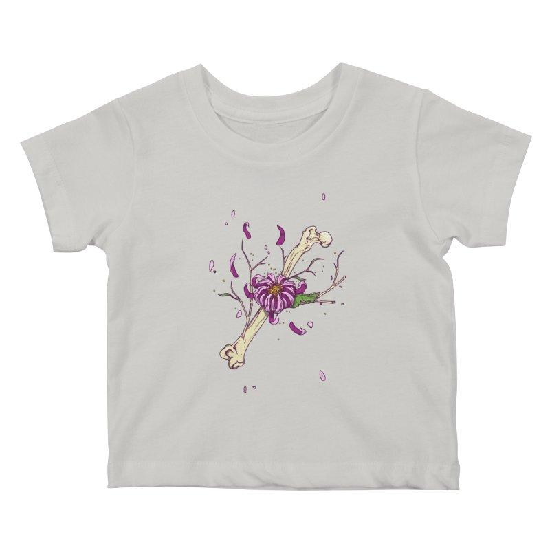 Flower bone Kids Baby T-Shirt by juliusllopis's Artist Shop