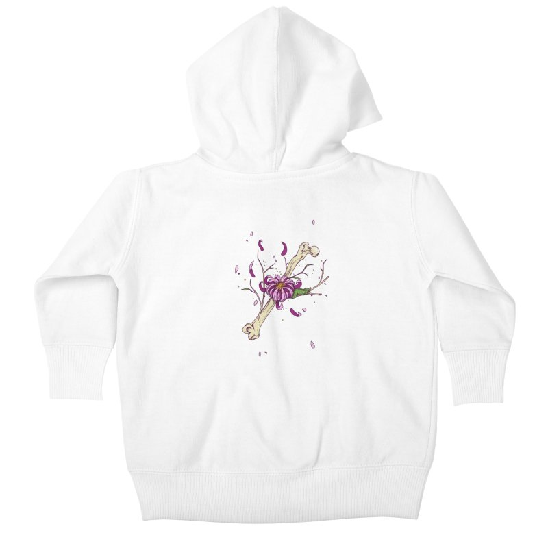 Flower bone Kids Baby Zip-Up Hoody by juliusllopis's Artist Shop