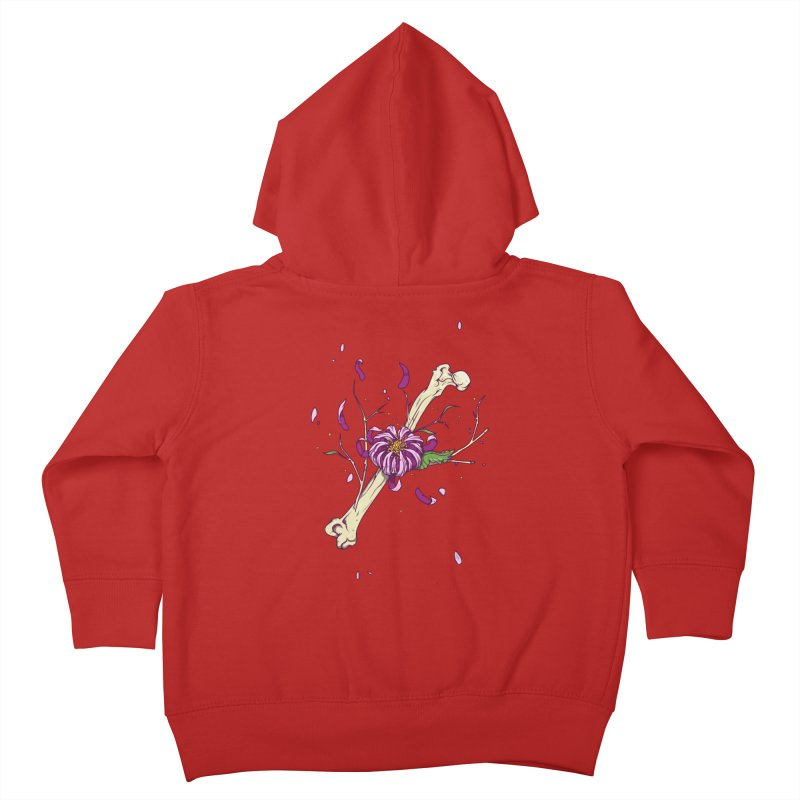 Flower bone Kids Toddler Zip-Up Hoody by juliusllopis's Artist Shop