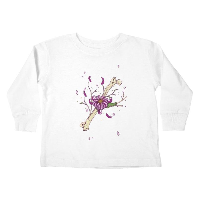 Flower bone Kids Toddler Longsleeve T-Shirt by juliusllopis's Artist Shop