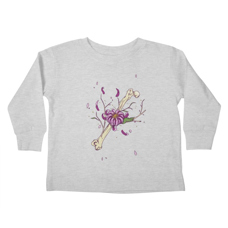 Flower bone Kids Toddler Longsleeve T-Shirt by juliusllopis's Artist Shop
