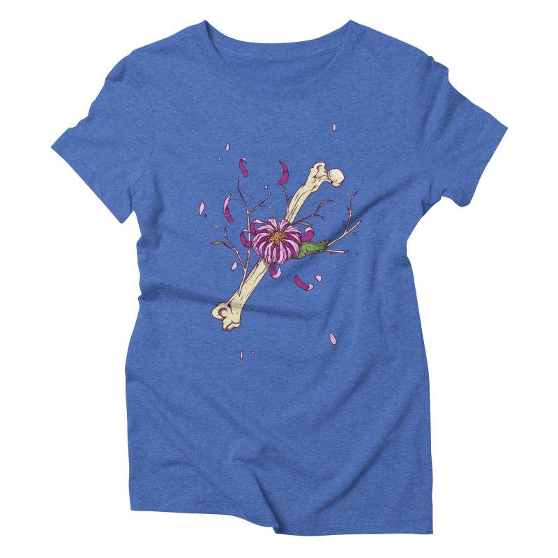 Flower bone Women's Triblend T-Shirt by juliusllopis's Artist Shop