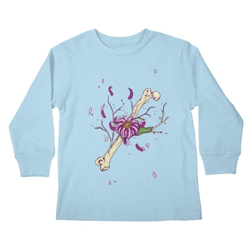 Flower bone Kids Longsleeve T-Shirt by juliusllopis's Artist Shop