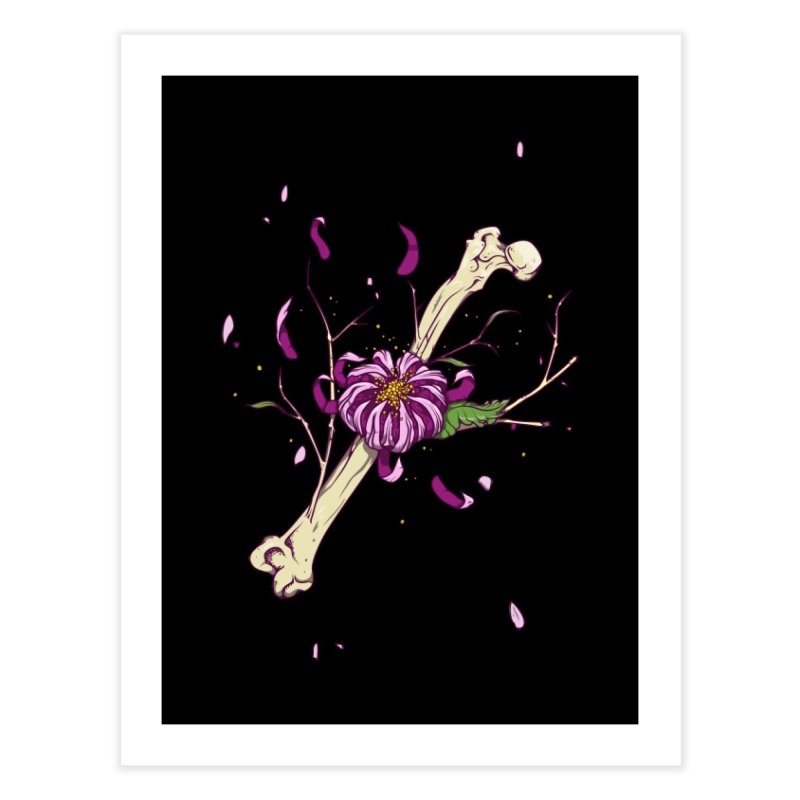 Flower bone Home Fine Art Print by juliusllopis's Artist Shop