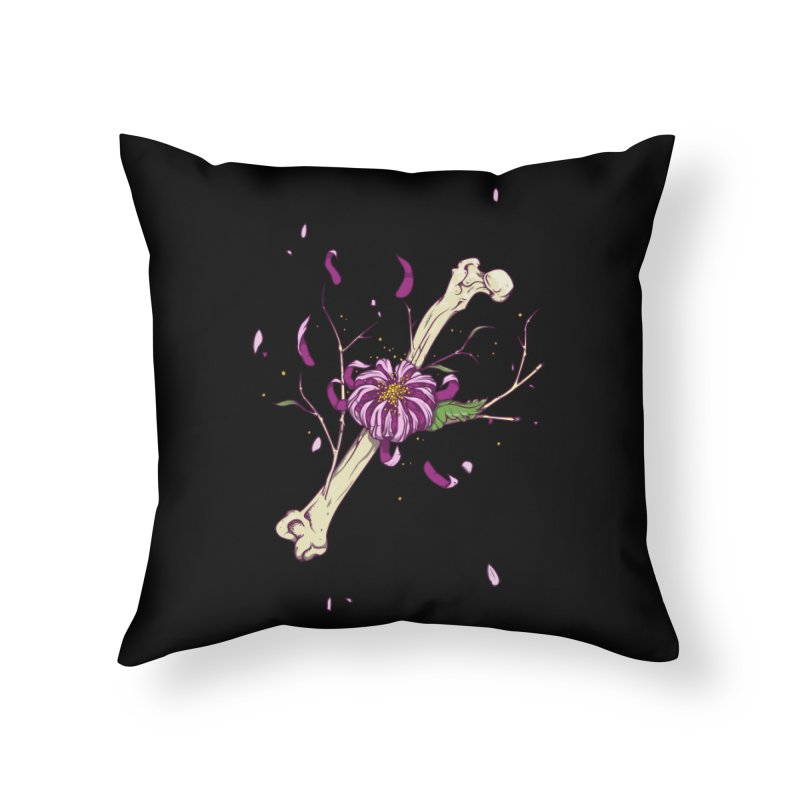Flower bone Home Throw Pillow by juliusllopis's Artist Shop