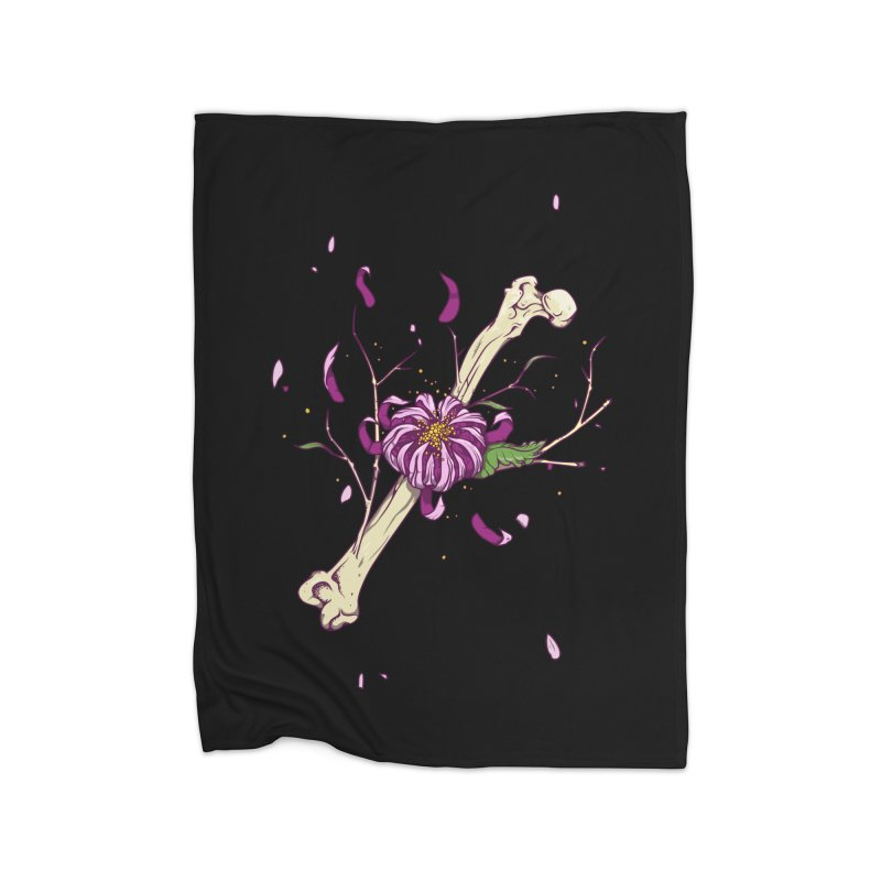 Flower bone Home Fleece Blanket Blanket by juliusllopis's Artist Shop