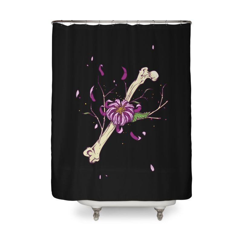 Flower bone Home Shower Curtain by juliusllopis's Artist Shop