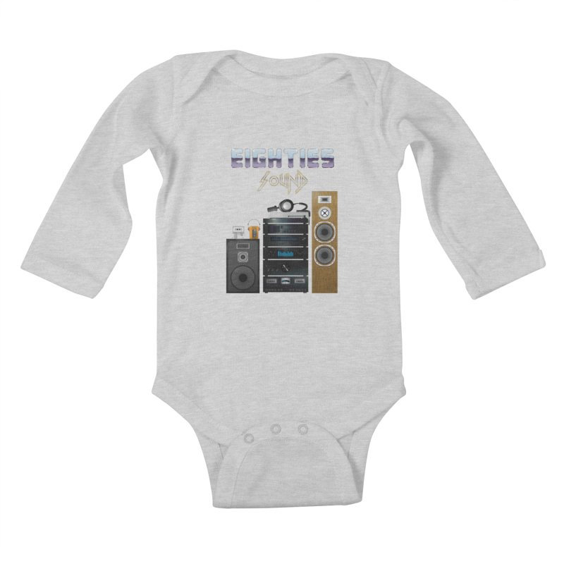 Eighties sound Kids Baby Longsleeve Bodysuit by juliusllopis's Artist Shop