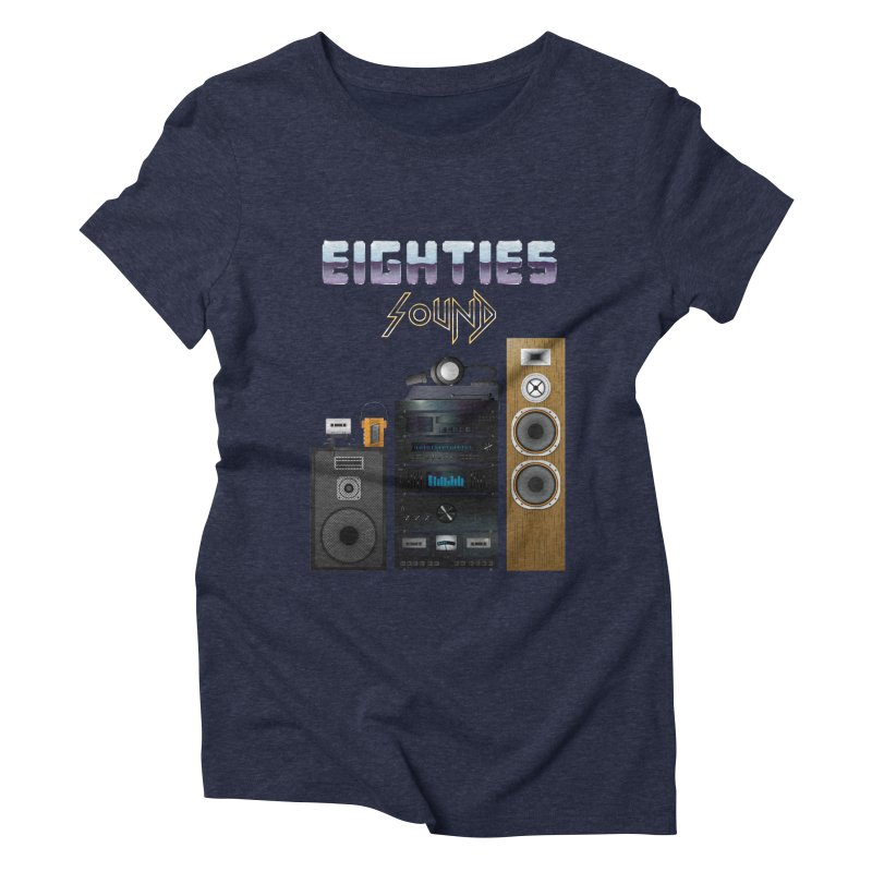 Eighties sound Women's Triblend T-Shirt by juliusllopis's Artist Shop
