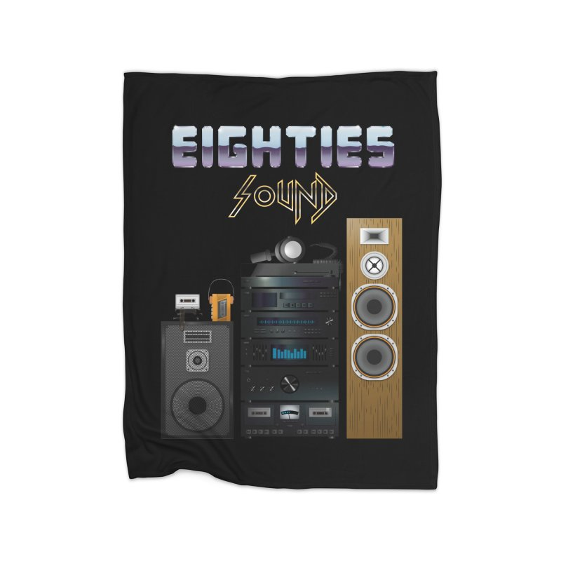 Eighties sound Home Fleece Blanket Blanket by juliusllopis's Artist Shop