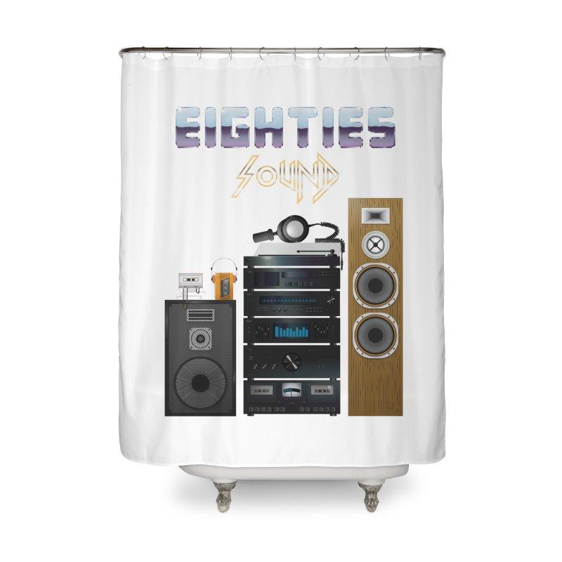 Eighties sound Home Shower Curtain by juliusllopis's Artist Shop