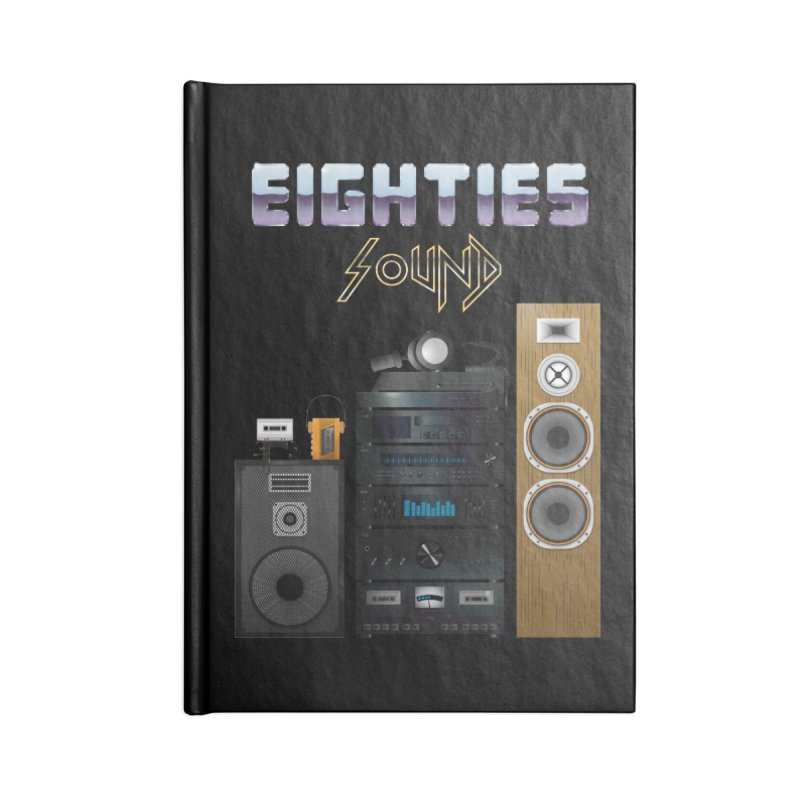 Eighties sound Accessories Blank Journal Notebook by juliusllopis's Artist Shop
