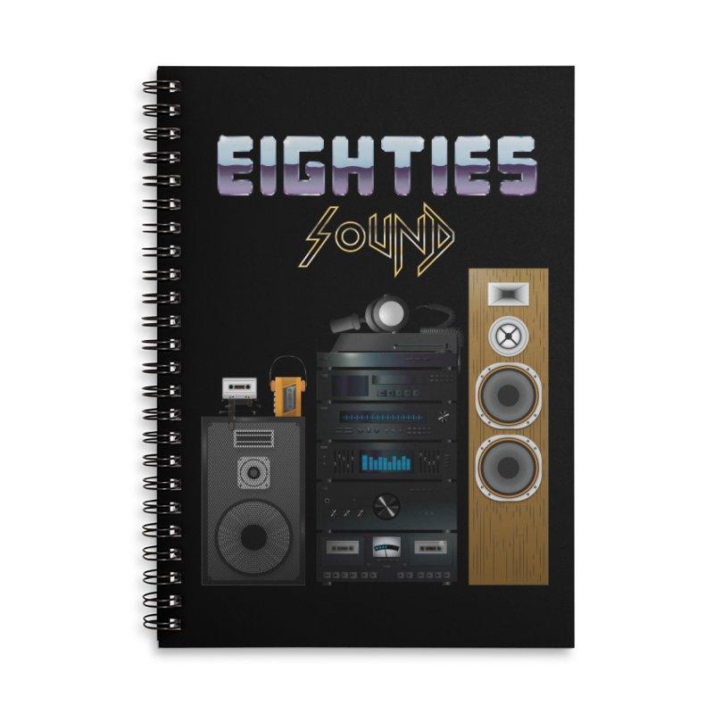 Eighties sound Accessories Lined Spiral Notebook by juliusllopis's Artist Shop
