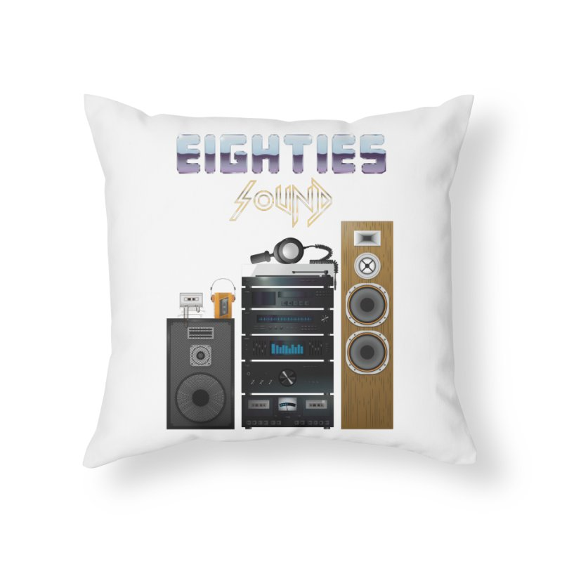 Eighties sound Home Throw Pillow by juliusllopis's Artist Shop