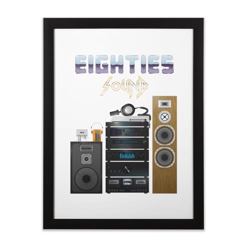 Eighties sound Home Framed Fine Art Print by juliusllopis's Artist Shop
