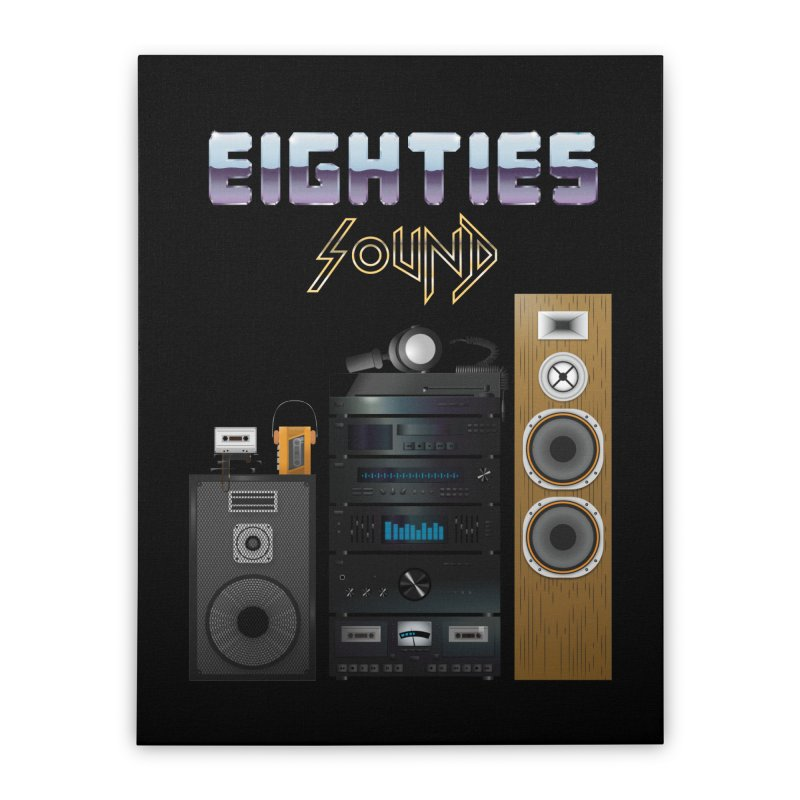 Eighties sound Home Stretched Canvas by juliusllopis's Artist Shop