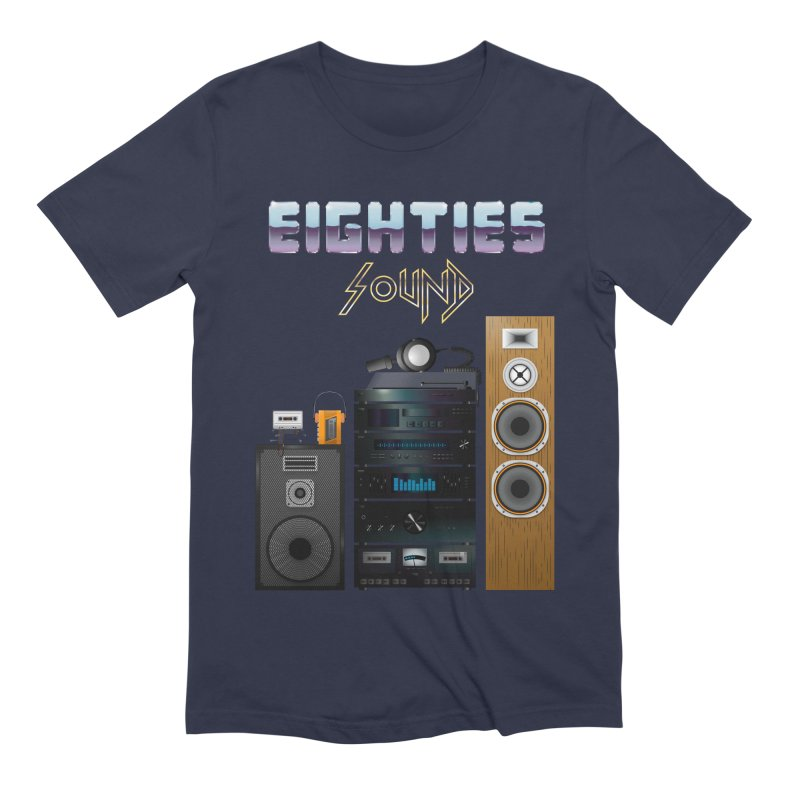 Eighties sound Men's Extra Soft T-Shirt by juliusllopis's Artist Shop
