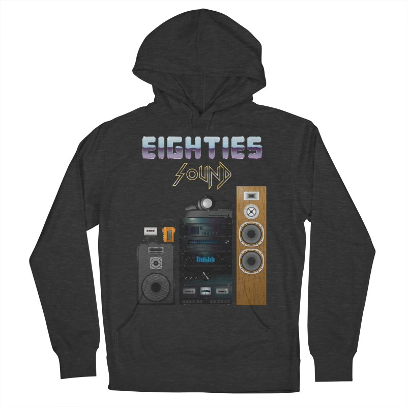 Eighties sound Men's French Terry Pullover Hoody by juliusllopis's Artist Shop