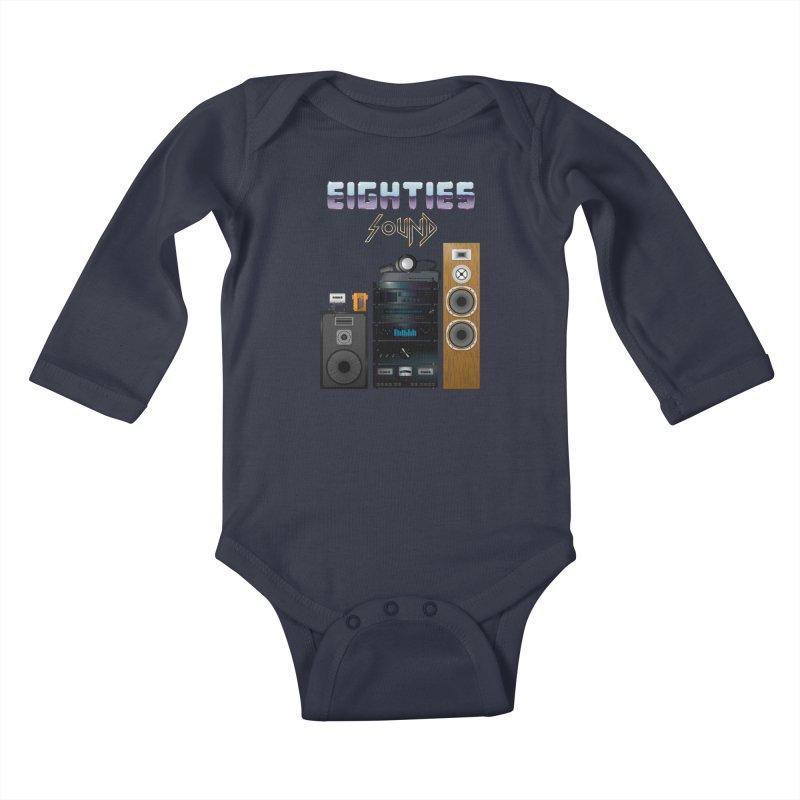 Eighties sound Kids Baby Longsleeve Bodysuit by juliusllopis's Artist Shop