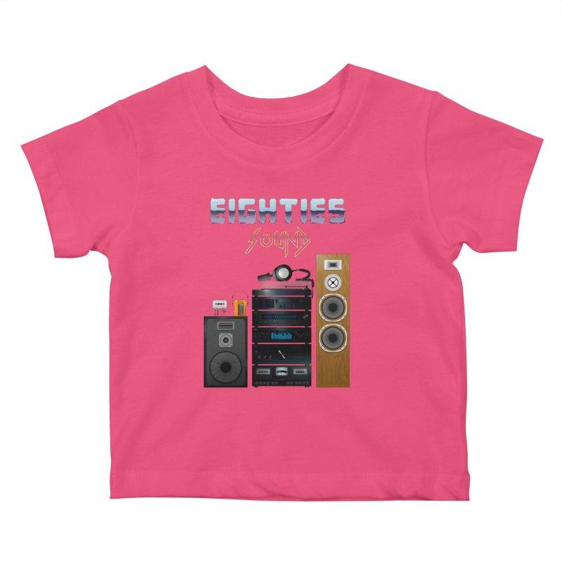 Eighties sound Kids Baby T-Shirt by juliusllopis's Artist Shop