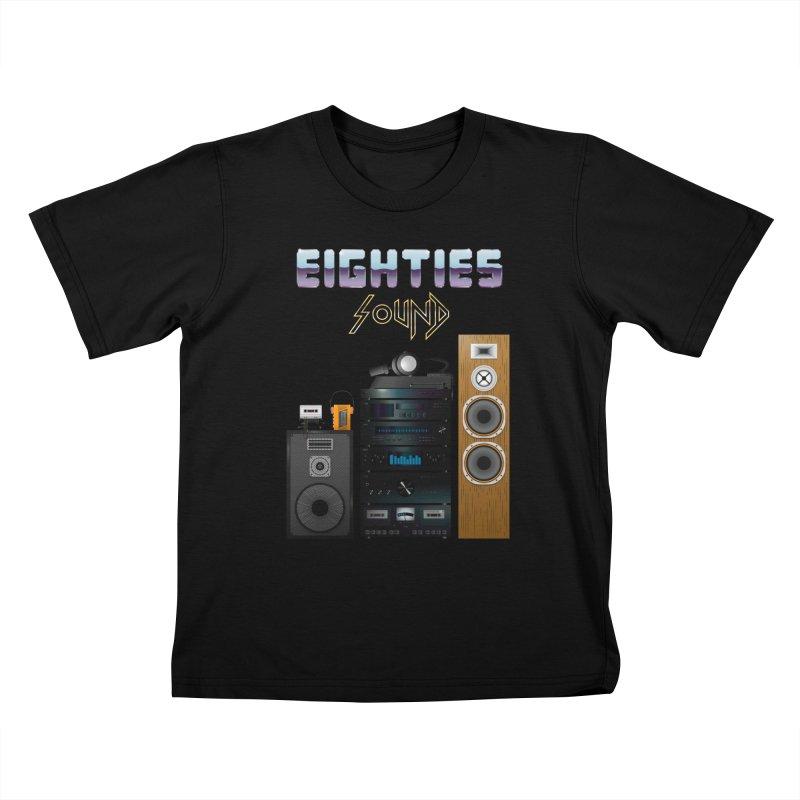 Eighties sound Kids T-Shirt by juliusllopis's Artist Shop