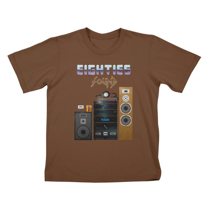 Eighties sound Kids T-Shirt by juliusllopis's Artist Shop