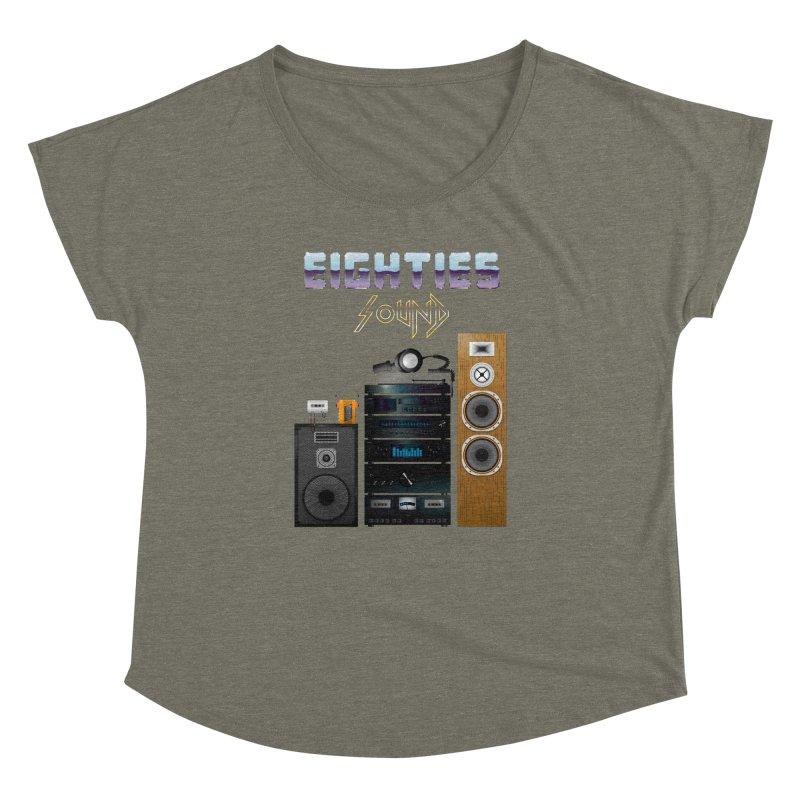 Eighties sound Women's Dolman Scoop Neck by juliusllopis's Artist Shop