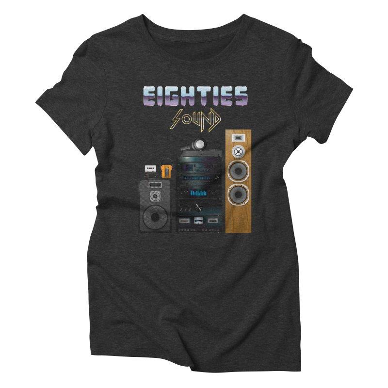 Eighties sound Women's Triblend T-Shirt by juliusllopis's Artist Shop