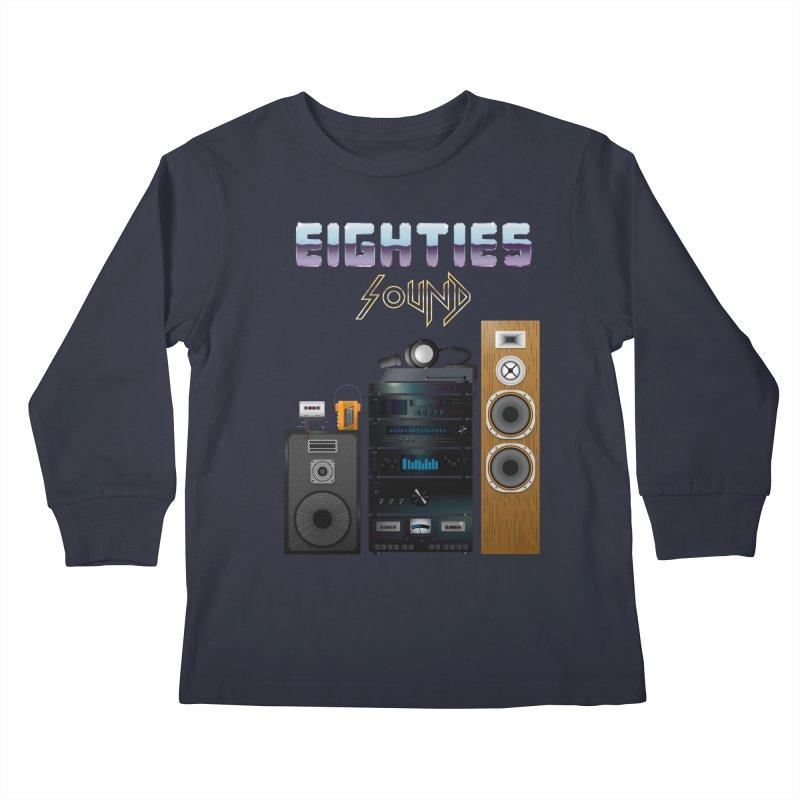 Eighties sound Kids Longsleeve T-Shirt by juliusllopis's Artist Shop