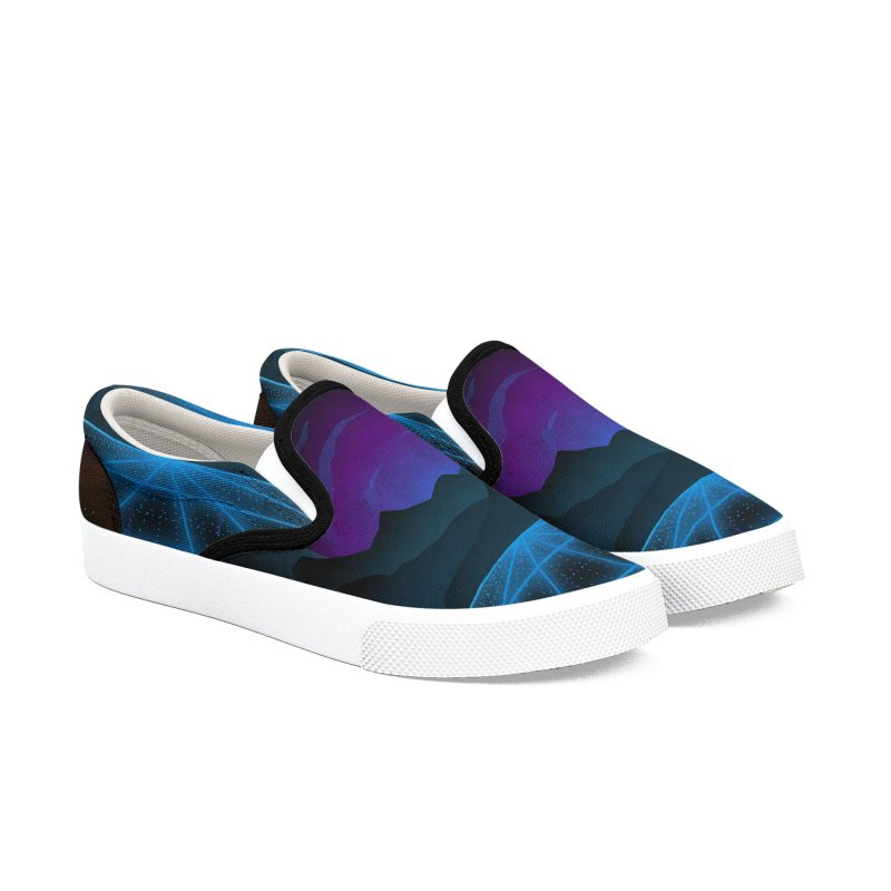 Outrun Men's Slip-On Shoes by juliusllopis's Artist Shop