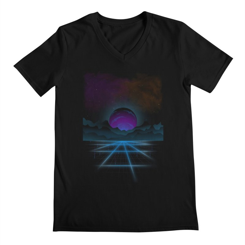 Outrun Men's Regular V-Neck by juliusllopis's Artist Shop