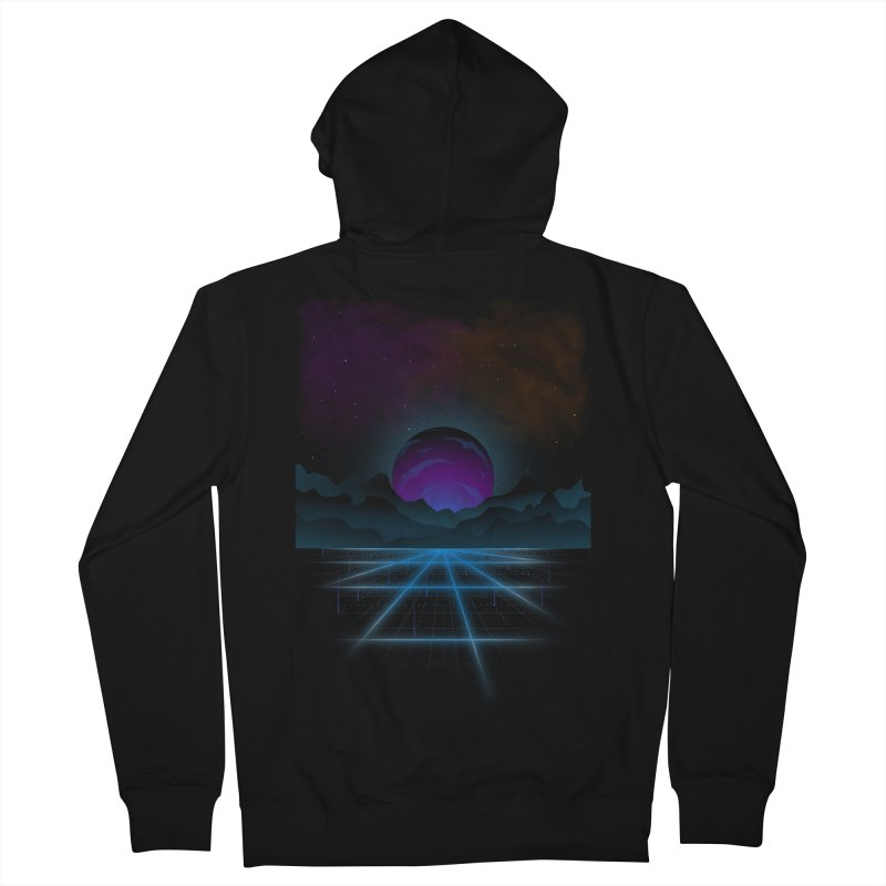Outrun Men's French Terry Zip-Up Hoody by juliusllopis's Artist Shop