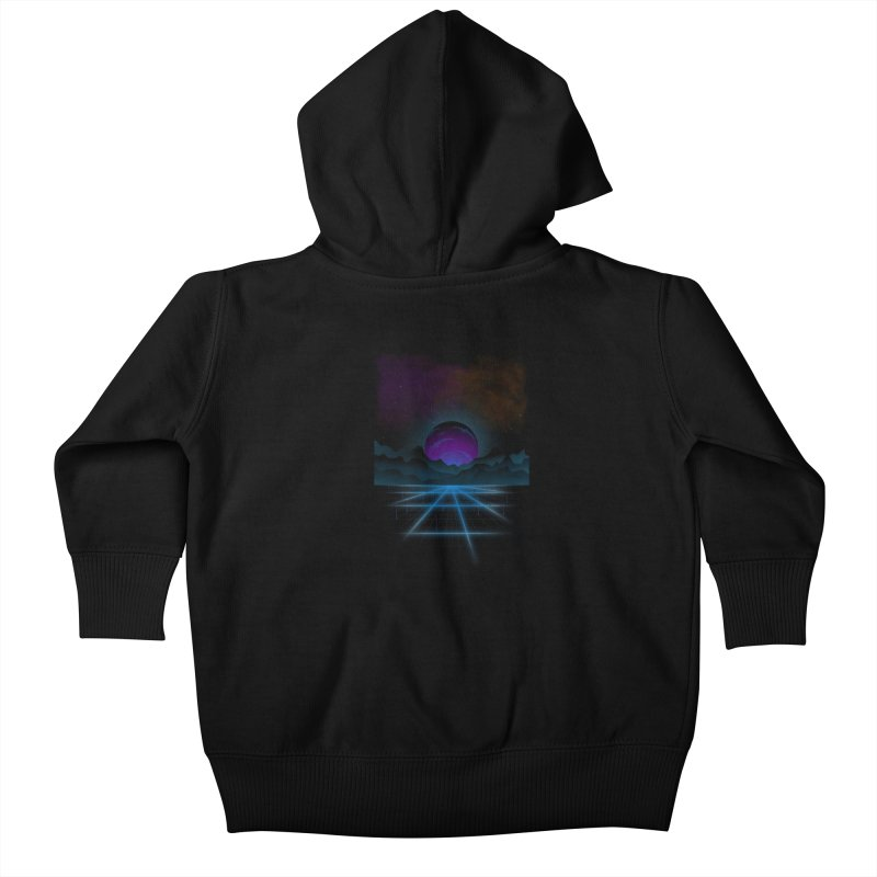 Outrun Kids Baby Zip-Up Hoody by juliusllopis's Artist Shop