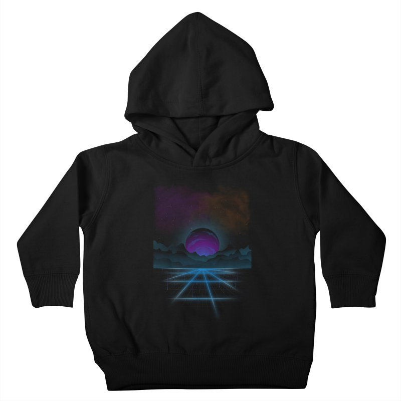 Outrun Kids Toddler Pullover Hoody by juliusllopis's Artist Shop