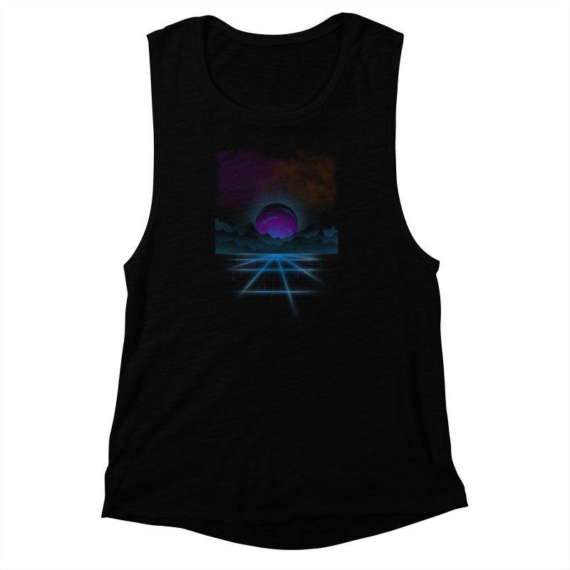 Outrun Women's Muscle Tank by juliusllopis's Artist Shop