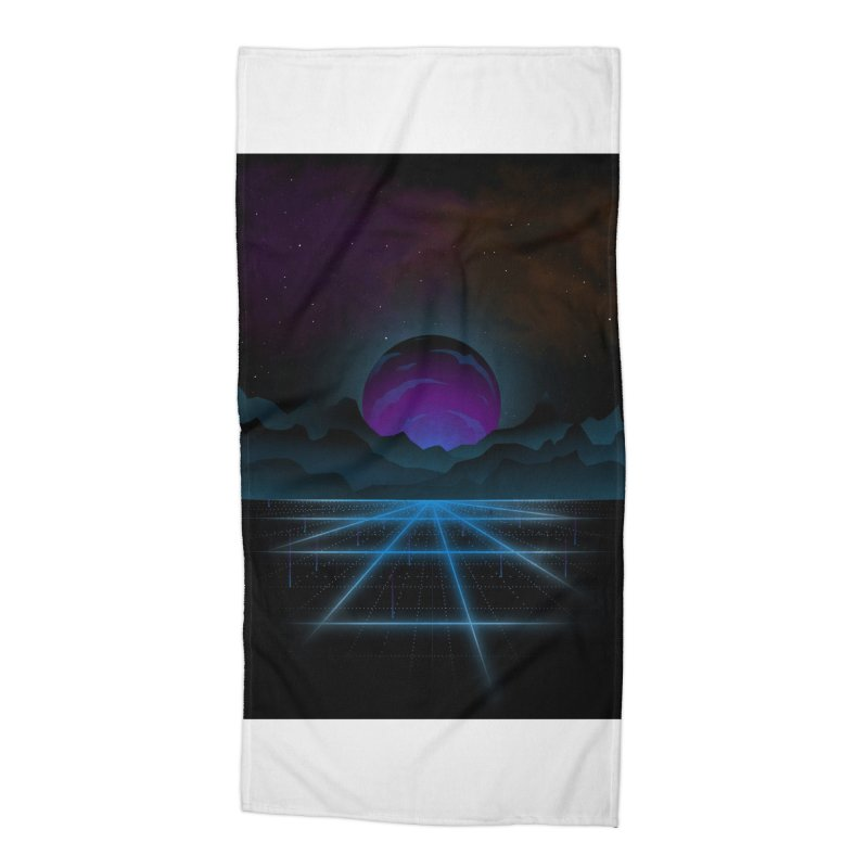 Outrun Accessories Beach Towel by juliusllopis's Artist Shop