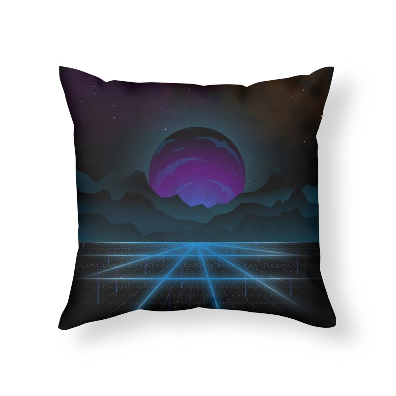 Outrun Home Throw Pillow by juliusllopis's Artist Shop