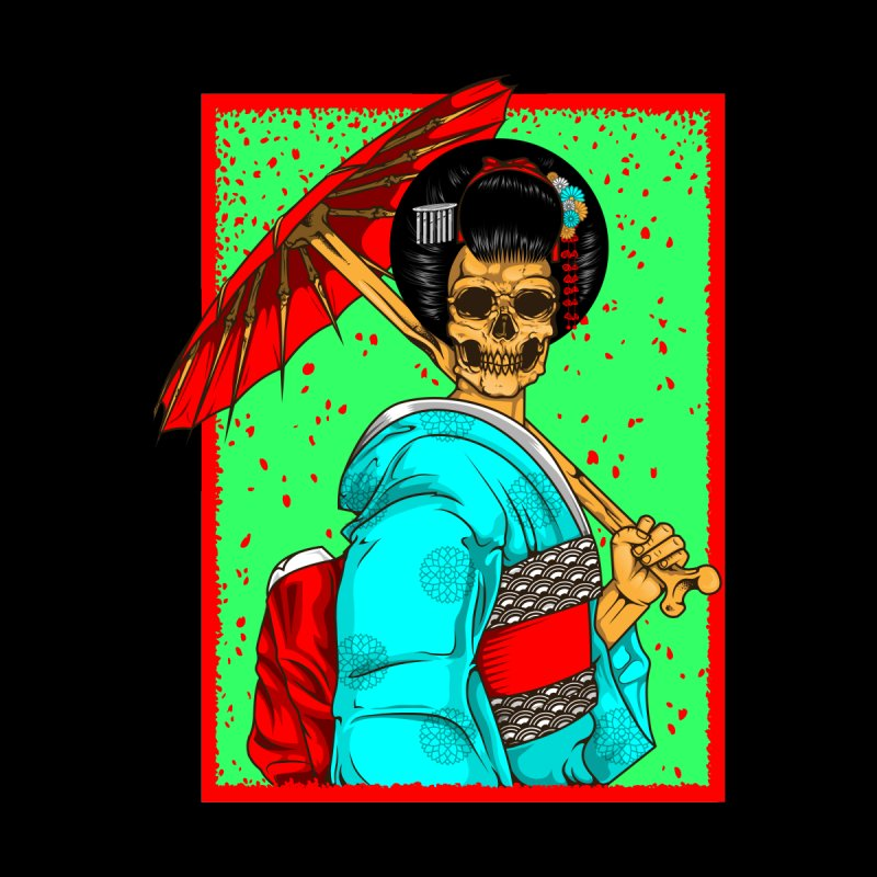 Geisha skull Home Stretched Canvas by juliusllopis's Artist Shop
