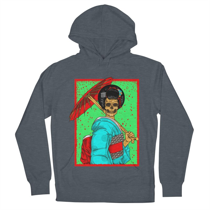 Geisha skull Men's French Terry Pullover Hoody by juliusllopis's Artist Shop