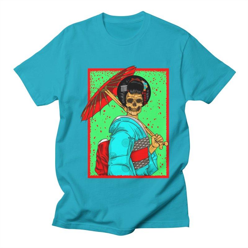 Geisha skull Men's Regular T-Shirt by juliusllopis's Artist Shop
