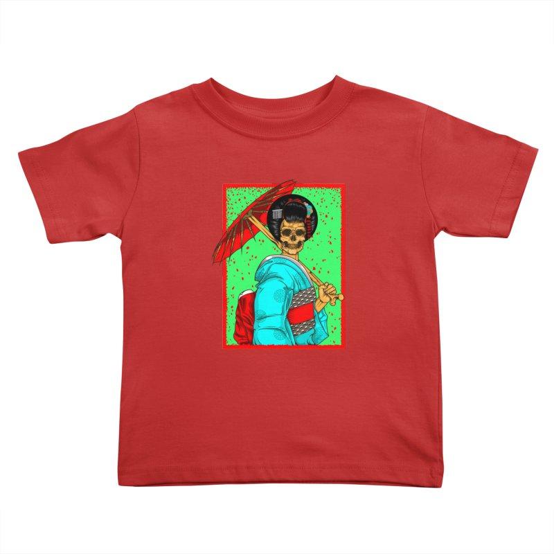 Geisha skull Kids Toddler T-Shirt by juliusllopis's Artist Shop