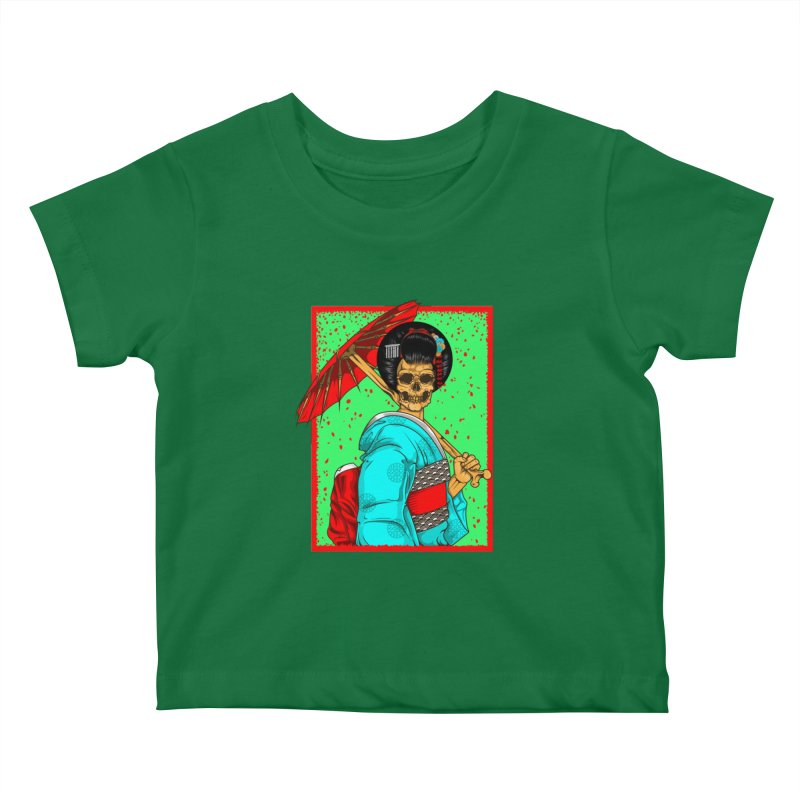 Geisha skull Kids Baby T-Shirt by juliusllopis's Artist Shop