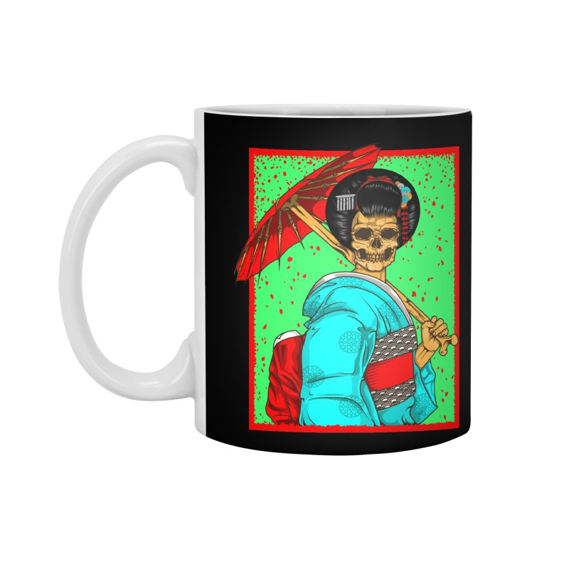 Geisha skull Accessories Mug by juliusllopis's Artist Shop