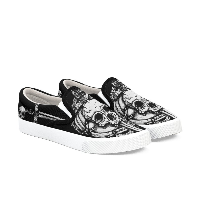 Bishop skull Men's Slip-On Shoes by juliusllopis's Artist Shop