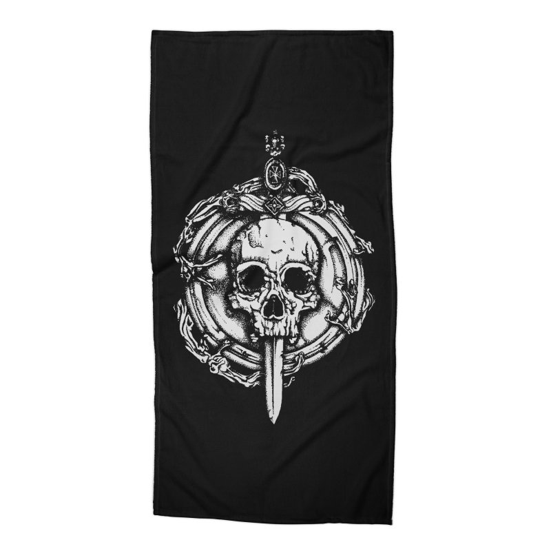 Bishop skull Accessories Beach Towel by juliusllopis's Artist Shop